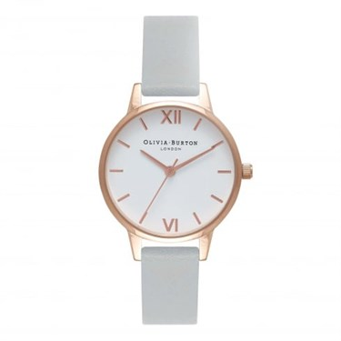 Olivia Burton Vegan Friendly Midi Grey & Rose Gold Watch  - Click to view larger image