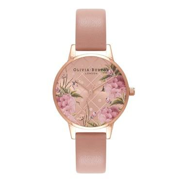 Olivia Burton Vegan Friendly Floral Rose Gold Watch  - Click to view larger image