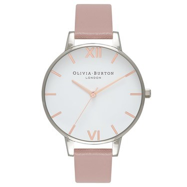 Olivia Burton Vegan Friendly Rose Sand & Silver Watch  - Click to view larger image