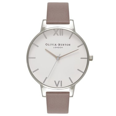Olivia Burton Big Dial London Grey & Silver Watch  - Click to view larger image