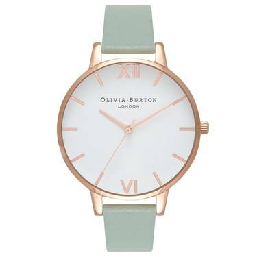 Olivia Burton Big Dial Mint & Rose Gold Watch  - Click to view larger image
