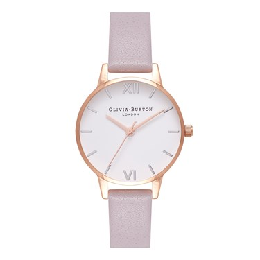 Olivia Burton Midi Dial Grey Lilac, Silver & Rose Gold Watch  - Click to view larger image