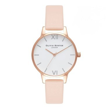 Olivia Burton Midi Dial Nude Peach & Rose Gold Watch  - Click to view larger image
