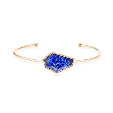 August Woods Blue Lapis & Rose Gold Bangle  - Click to view larger image