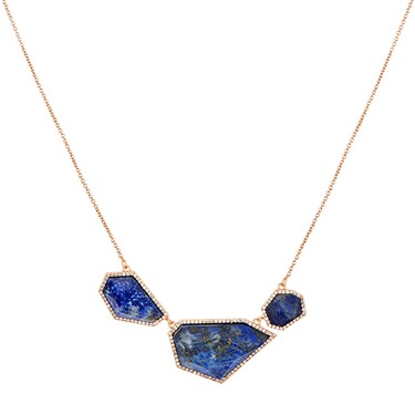August Woods Blue Lapis & Rose Gold Necklace  - Click to view larger image