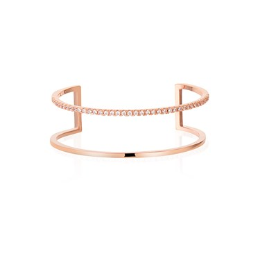 Dirty Ruby Rose Gold Double Bangle  - Click to view larger image