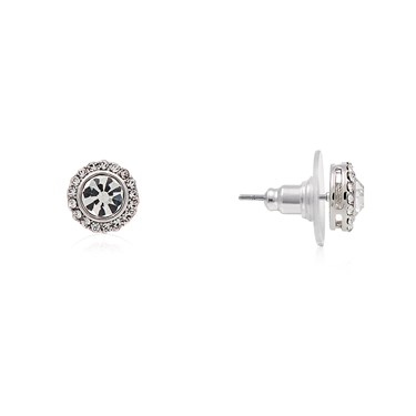 August Woods Silver CZ Detail Stud Earrings  - Click to view larger image