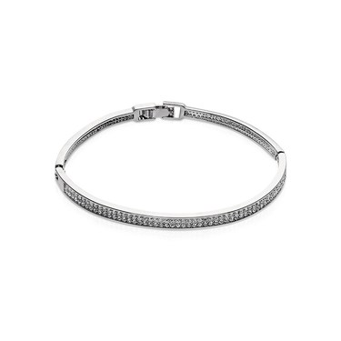 Women's Jewellery August Woods Silver CZ Middle Closed Bangle