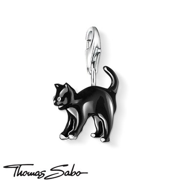Thomas Sabo Black Cat Charm  - Click to view larger image