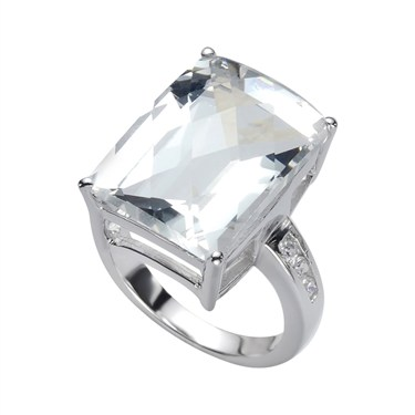 Karma Silver CZ Ring