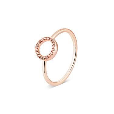 Karma Rose Gold Crystal Circle Ring  - Click to view larger image