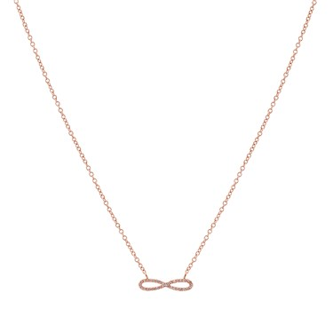 Karma Rose Gold Infinity Necklace   - Click to view larger image