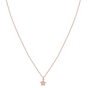 Karma Rose Gold Crystal Star Necklace  - Click to view larger image