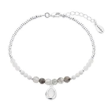 Karma April Birthstone Beaded Bracelet   - Click to view larger image