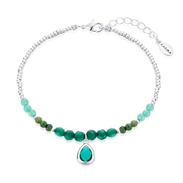 Karma May Birthstone Beaded Bracelet   - Click to view larger image