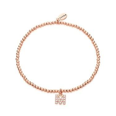 Karma Rose Gold Letter M Bracelet  - Click to view larger image