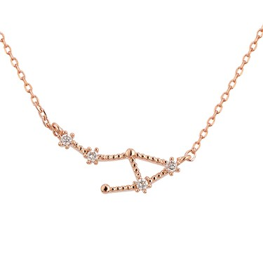 Dirty Ruby Libra Constellation Necklace  - Click to view larger image