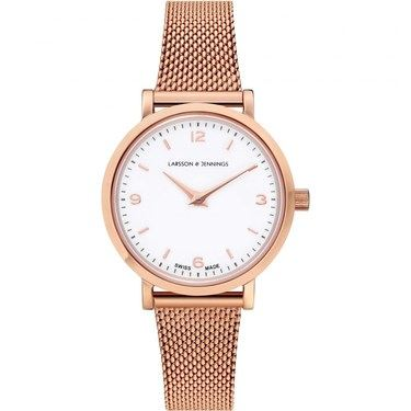 Larsson & Jennings  Lugano 26mm Rose Gold Mesh Watch  - Click to view larger image