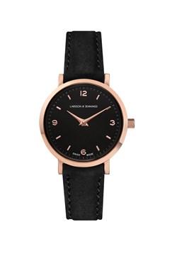 Larsson & Jennings  Lugano 26mm Black & Rose Gold Watch  - Click to view larger image