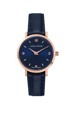 Larsson & Jennings  Lugano 26mm Rose Gold & Navy Watch  - Click to view larger image