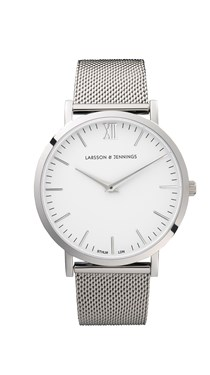 Larsson & Jennings  Lugano 40mm Silver Watch  - Click to view larger image