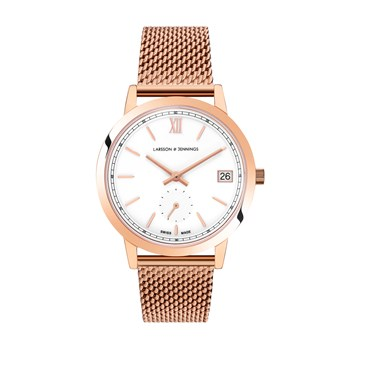 Larsson & Jennings  Saxon 33m Rose Gold Watch  - Click to view larger image