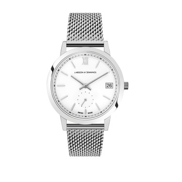 Larsson & Jennings  Saxon 33mm Silver Watch  - Click to view larger image