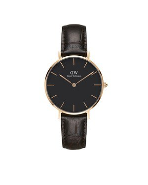 Daniel Wellington Classic Petite York Black & Rose Gold Watch  - Click to view larger image