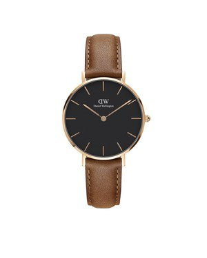 Daniel Wellington Classic Petite Rose Gold & Black Durham Watch   - Click to view larger image