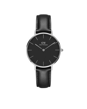 Daniel Wellington Classic Petite Sheffield Black & Silver Watch  - Click to view larger image