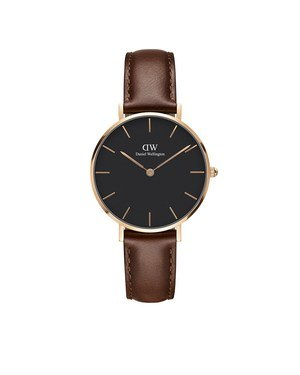 Daniel Wellington Classic Petite St Mawes Rose Gold & Black Watch  - Click to view larger image