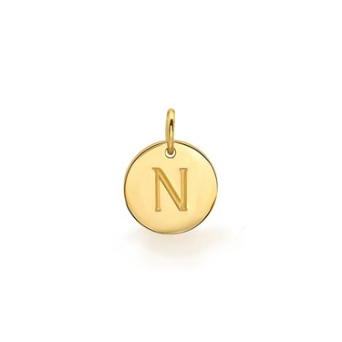 Missoma Gold Initial N Pendant  - Click to view larger image