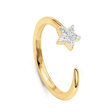 Missoma Gold Nova Star Ring   - Click to view larger image