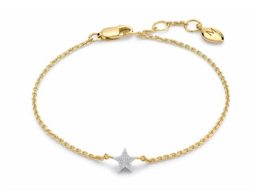 Missoma Gold Pave Star Bracelet  - Click to view larger image