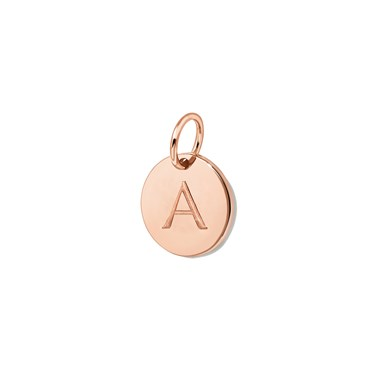 Missoma Rose Gold Initial A Pendant  - Click to view larger image
