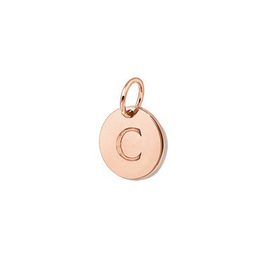 Missoma Rose Gold Initial C Pendant  - Click to view larger image