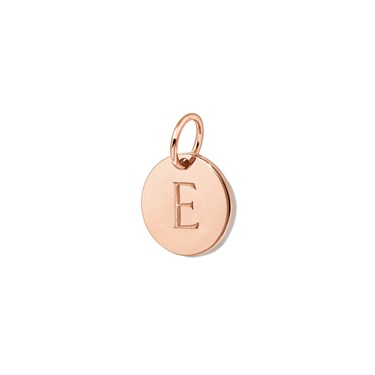 Missoma Rose Gold Initial E Pendant  - Click to view larger image