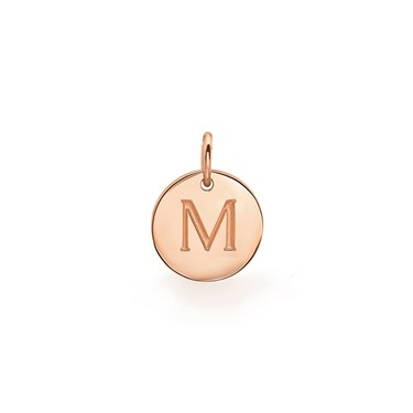 Missoma Rose Gold Initial M Pendant  - Click to view larger image