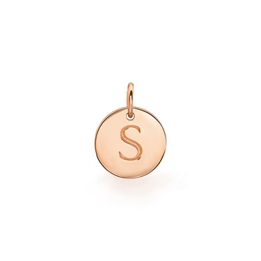 Missoma Rose Gold Initial S Pendant  - Click to view larger image
