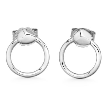Missoma Silver Nugget Hoops  - Click to view larger image