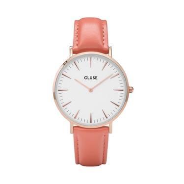 CLUSE La Bohème Rose Gold & Flamingo Watch  - Click to view larger image