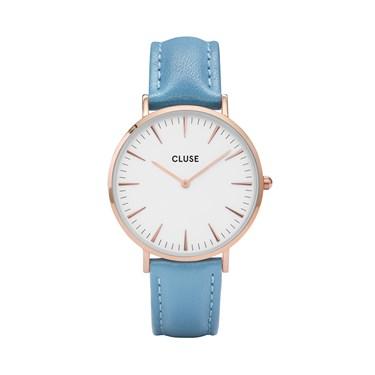 CLUSE La Bohème Rose Gold & Retro Blue Watch  - Click to view larger image