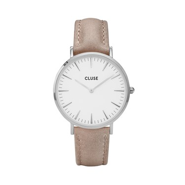 CLUSE La Bohème Silver & Hazelnut Watch  - Click to view larger image