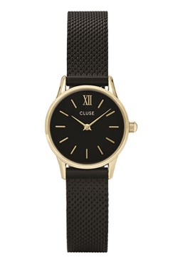 CLUSE La Vedette Black & Gold Mesh Watch  - Click to view larger image