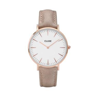 CLUSE La Bohème Rose Gold & Hazelnut Watch   - Click to view larger image