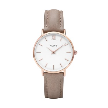 CLUSE Minuit Rose Gold & Hazelnut Watch  - Click to view larger image