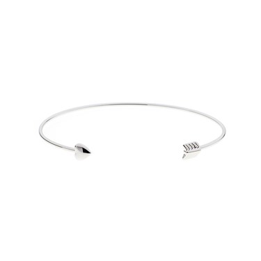 Ted Baker Carise Cupides Arrow Ultra Fine Silver Cuff  - Click to view larger image