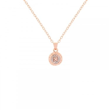Ted Baker Elvina Enamel Mini Button Crystal Necklace  - Click to view larger image
