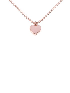 Ted Baker Hara Tiny Heart Rose Gold Necklace  - Click to view larger image