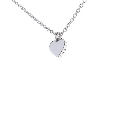 d629ce0a7417 Ted Baker Hara Tiny Heart Silver Necklace - Click to view larger image